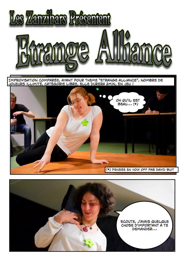 Improvisation de type libre comparée illustrée en bande dessinée