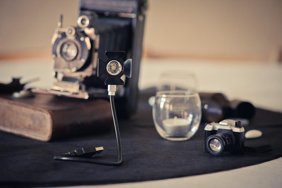 Décoration de table sur le thème de la photographie