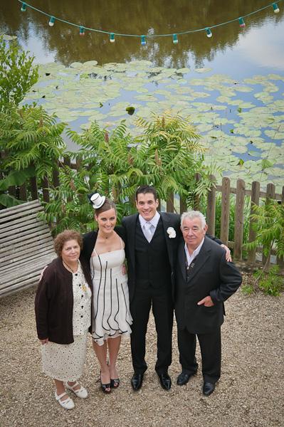 Portrait des mariés et des grands parents